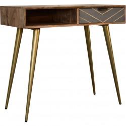 Moston Cement Brass Inlay Writing Desk