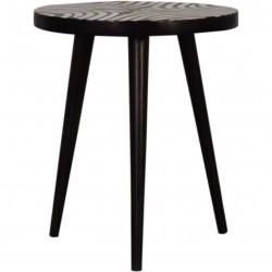 Mahuva Inlay Patterned End Table
