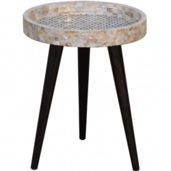 Geo Honeycomb Mosaic End Table