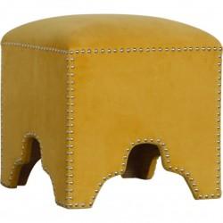 Bailey Cotton Velvet Studded Footstool