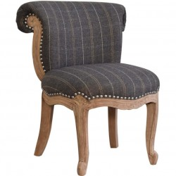 Brochere Tweed Studded Chair