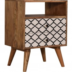 Stella Bedside Cabinet with Open Slot