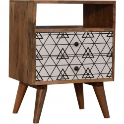 Gemini Bedside Cabinet with Open Slot