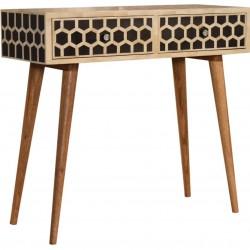 Geo Honeycomb Bone Inlay Console Table