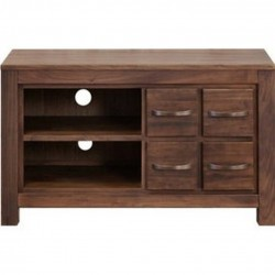 Panaro Compact Multi-Drawer Walnut TV Cabinet
