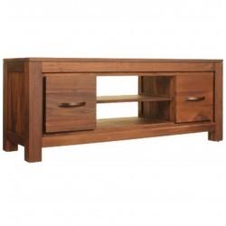 Panaro Low Two Drawer Walnut TV Cabinet