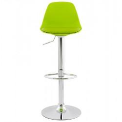 vibrant green chrome-framed bar stool - front