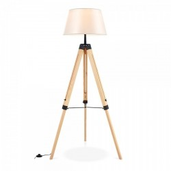 Adjustable Wooden Tripod Floor Lamps