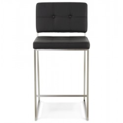 Liso Bar Stool Black Front