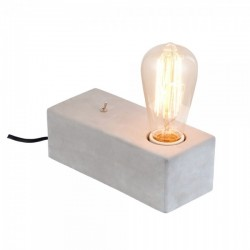 Concrete Block Table Lamp