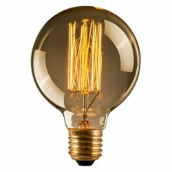 Edison Smoked Round Globe Filament Bulb G125