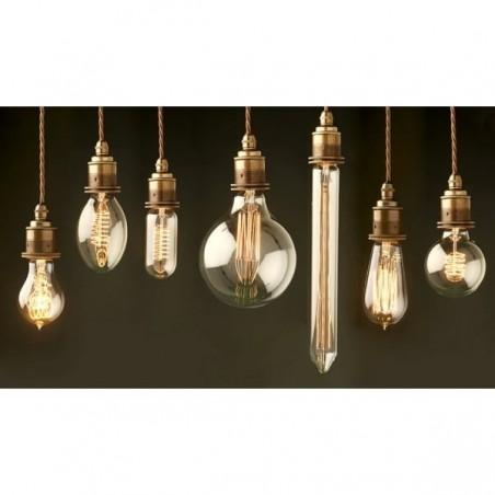 Edison Vintage Bulb Squirrel Smoked Glass -