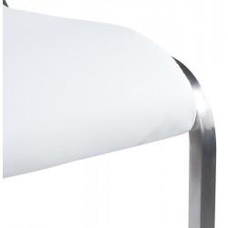 Maglia Pelle Height Adjustable Bar Stool White Seat Detail