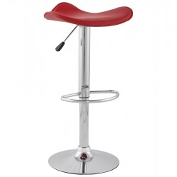 Ciclo Height Adjustable Bar Stool Red Front Angle