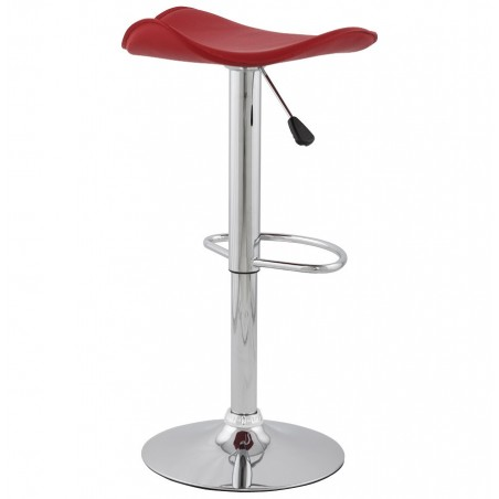 Ciclo Height Adjustable Bar Stool Red Back Angle