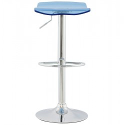 An image of Fetta Height Adjustable Bar Stool Blue