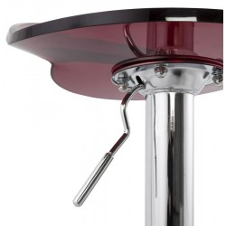 Dolce Height Adjustable Bar Stool Red Gas lift