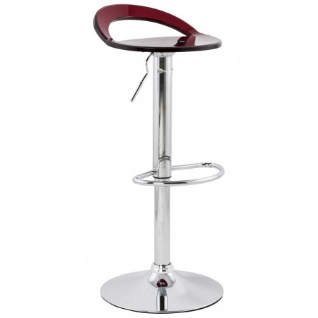 Dolce Height Adjustable Bar Stool Red Angle