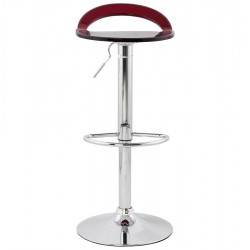 Dolce Height Adjustable Bar Stool Red Front