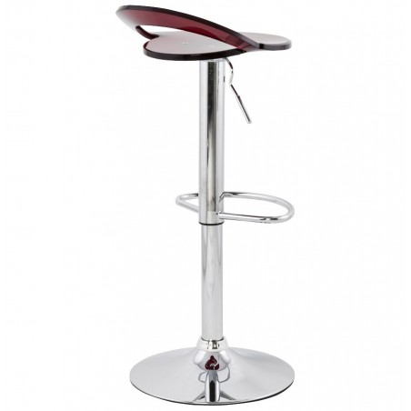 Dolce Height Adjustable Bar Stool Red Back Angle