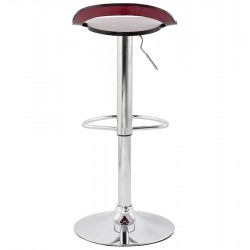 Dolce Height Adjustable Bar Stool Red Back