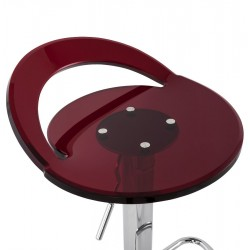 Dolce Height Adjustable Bar Stool Red Seat