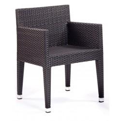 Rattan Garden Box Armchair in Black