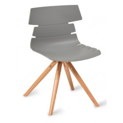 Fabulo chair with a Grey seat and Pyramid style legs