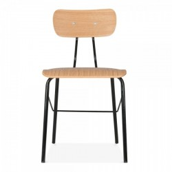 natural beech wooden chair in a black finish 2