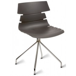 Fabulo chair with a grey seat and spider legs