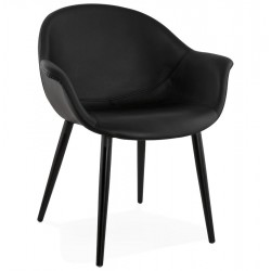 Denever Arm Chair Black Angle