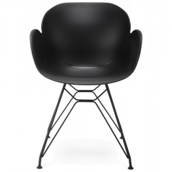 Maleficio Arm Chair Black Front
