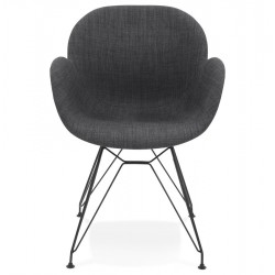 Tela Arm Chair Dark Grey