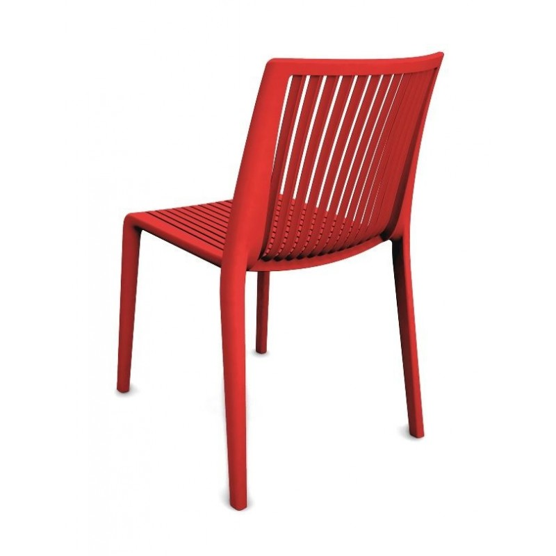 Formia Plastic Garden Chair in Red