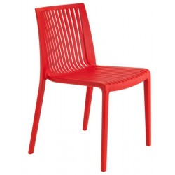 Formia Plastic Garden Chair in Red 2