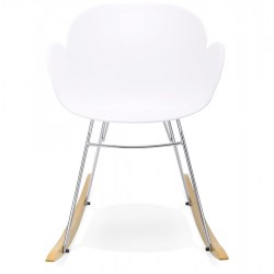Polipro Rocking Armchair White Front