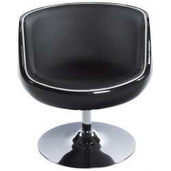 Cortar Egg Chair Black Front