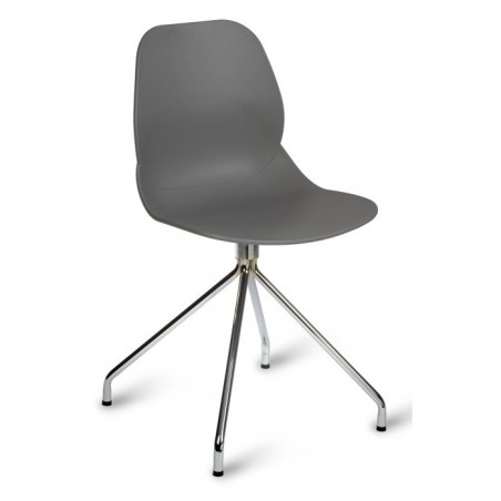 Sligo designer dining chair in grey with a spider style leg frame