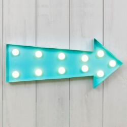 Blue light up arrow