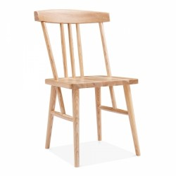 natural wooden traditional dining chair