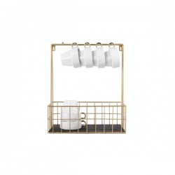 Small Wall Mounted Kitchen Rack With Hooks