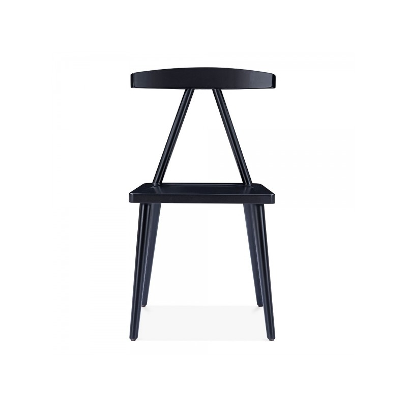 minimalist wooden dining chair in black 2