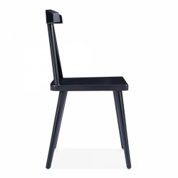 minimalist wooden dining chair in black 3