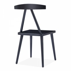 minimalist wooden dining chair in black 4