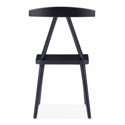minimalist wooden dining chair in black 5