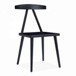 minimalist wooden dining chair in black