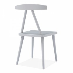 minimalist wooden dining chair in grey 4