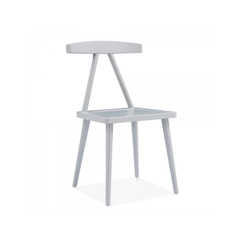 minimalist wooden dining chair in grey