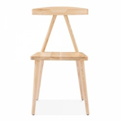 minimalist wooden dining chair in natural 2