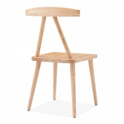 minimalist wooden dining chair in natural 4